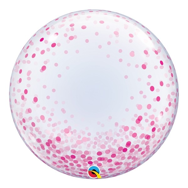 Pink Confetti Dots Bubble Balloon